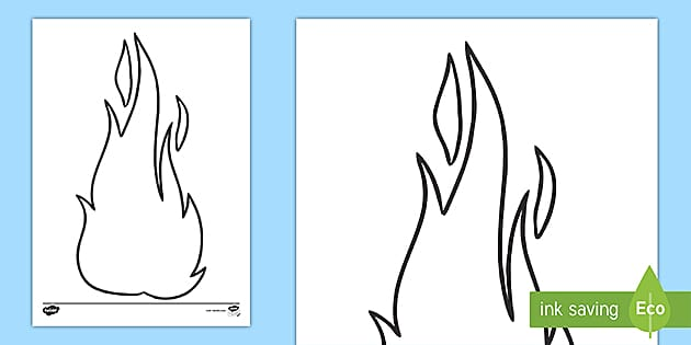 This is a picture of Flame Stencils Free Printable in drawing