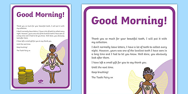 Tooth Fairy Letter Teaching Resources Teacher Made