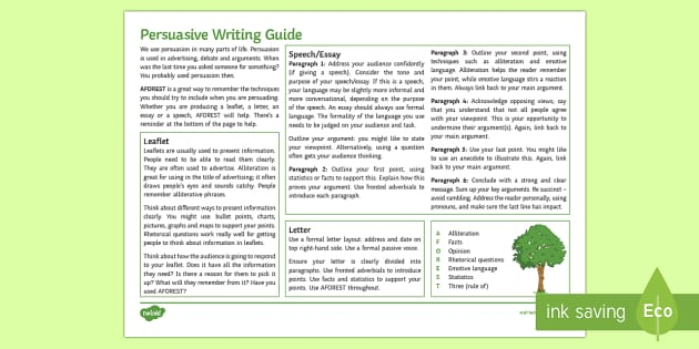 persuasive writing techniques ks3 The resource contains a powerpoint presentation covering persuasive writing techniques, with notes in the booklet/worksheets i started lesson one with persuasive techniques bingo (from teachit) to illustrate the range of rhetorical techniques before focusing students on the 8 techniques in the persuade mnemonic.