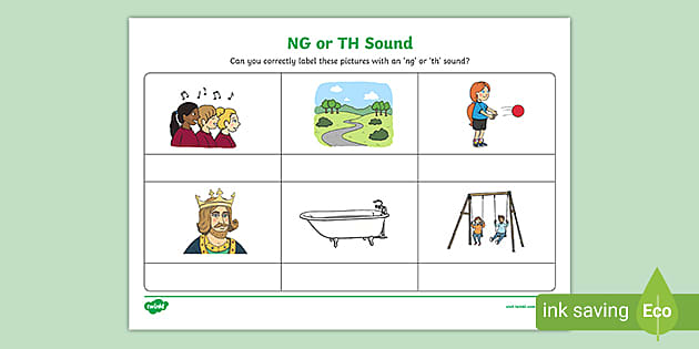 FREE! - NG Or TH Sound Phonics Worksheet - Phonics - Twinkl