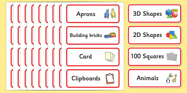 Classroom Resource Labels Red Label Template Resource