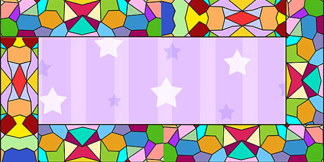 Stained Glass Window Display Border - display, borders, RE