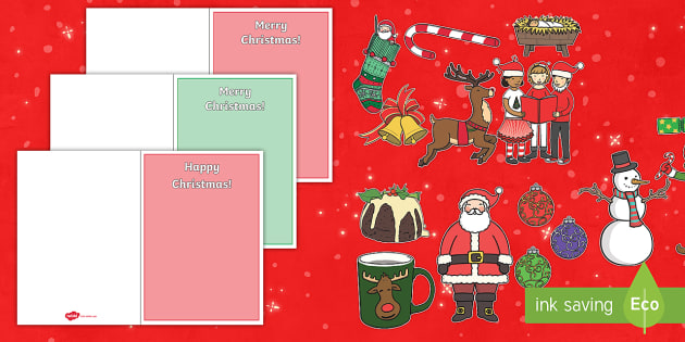 Free Make Your Own Christmas Cards Cut Outs