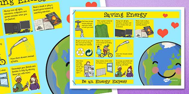 Saving Energy Poster Saving Energy Poster Display Saving