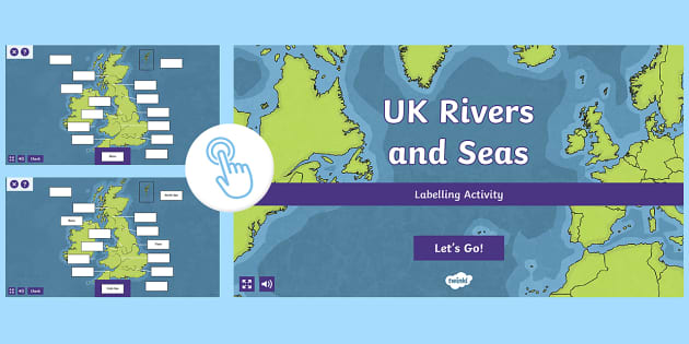 A Map Of The Uk Rivers.Go Teach Rivers Label Uk Seas And Rivers Interactive