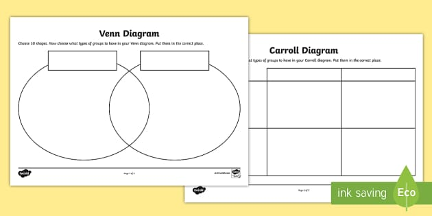 Ks2 venn diagrams primary resources venn diagrams page 1 shapes carroll and venn diagram activity sheets ccuart