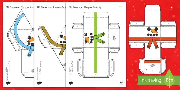 Simple 3d Snowman Paper Craft 3d Snowman Paper Craft