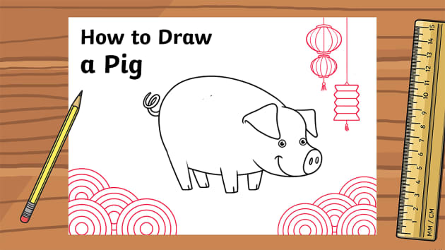 Chinese New Year: How To Draw A Pig Animation