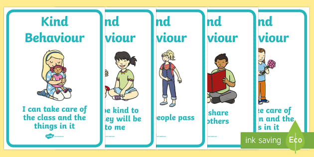 Kind Behaviour Posters Good Manners Good Behaviour Class