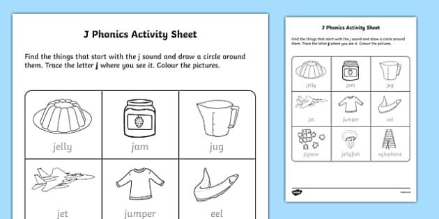 j Phonics Worksheet / Worksheet-Irish, worksheet