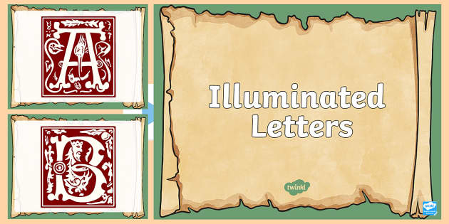 Illuminated letters powerpoint illuminated letters letters spiritdancerdesigns Image collections