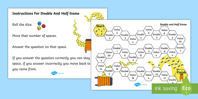 snakes and ladders instructions ks1