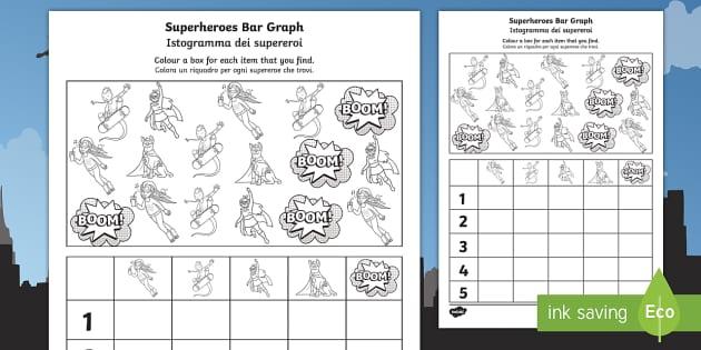 Superhero Themed Block Diagram Worksheet / Worksheet ...
