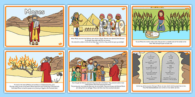 Moses Story Sequencing A4 Moses Egypt Hebrews