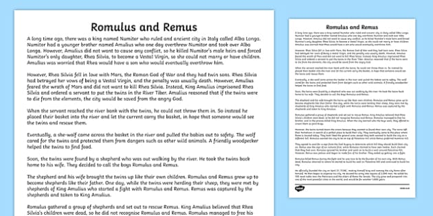 romulus and remus story pdf