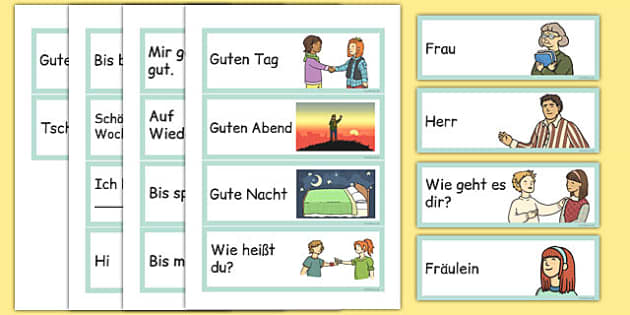Basic phrases greetings primary resources german greetings flashcards german m4hsunfo Image collections
