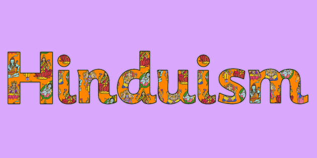 Hinduism Display Lettering Hinduism Display Lettering