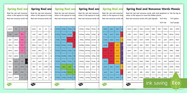 Spring Phase 5 Phonics Mosaic Worksheet Worksheet