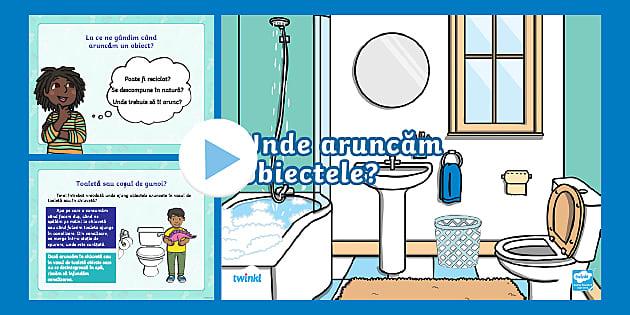 Ziua Mondială a Apei: Unde aruncăm obiectele? – Prezentare PowerPoint interactivă