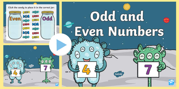 preview of Odd and Even Numbers Sorting Activity PowerPoint