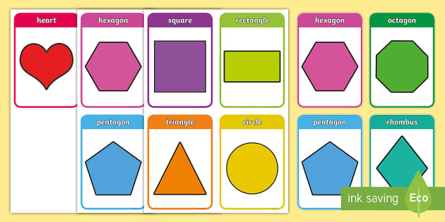 2d Shapes Flashcards For Preschoolers Teacher Made