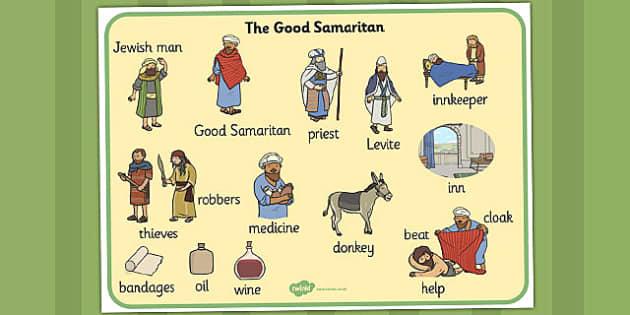 The Good Samaritan Word Mat The Good Samaritan Samaritan