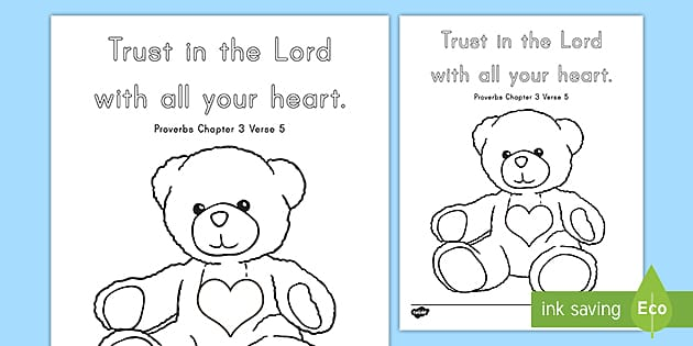 Proverbs 3:5 Coloring Page (teacher Made)