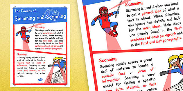 skimming and scannig Skimming & scanning: middle [edward fry] on amazoncom free shipping on  qualifying offers what time is that movie on tv what was the general idea of.