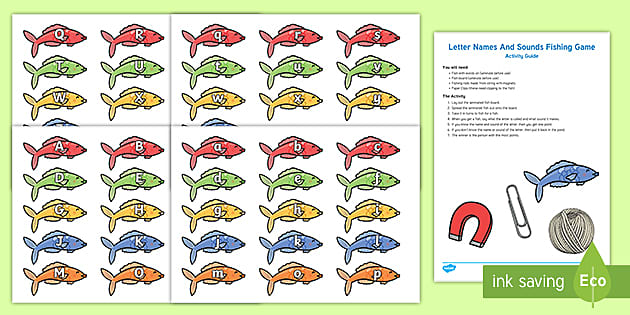 preview of Letter Names And Sounds Fishing Game