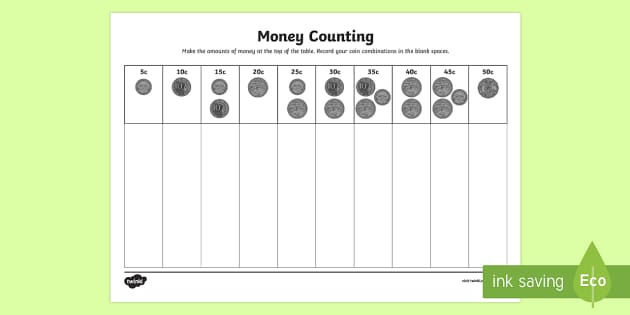 money counting and sorting worksheet worksheets coin combinations adding. Black Bedroom Furniture Sets. Home Design Ideas
