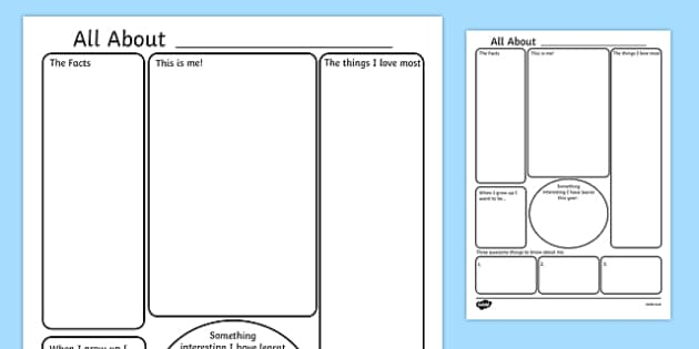 All About Me Poster Template All About Me All About Me Worksheet All