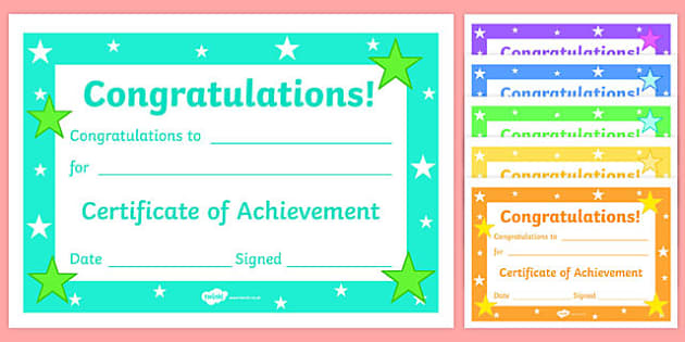 Editable reward certificates for primary classes certificates yadclub Image collections