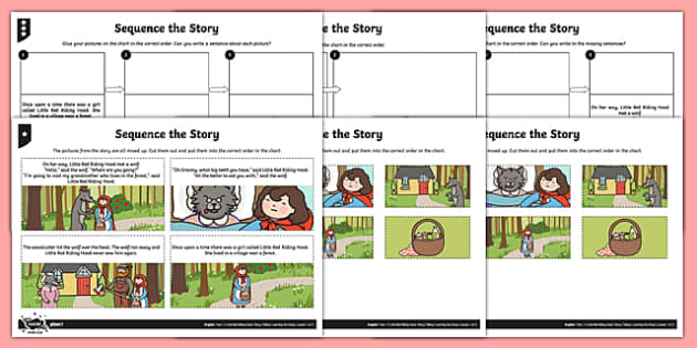 little red riding hood sequence the story worksheet activity. Black Bedroom Furniture Sets. Home Design Ideas