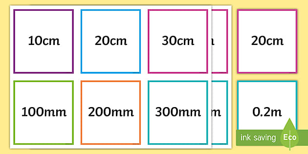 Free Converting Mm Cm M And Km Length Equivalents Matching Cards