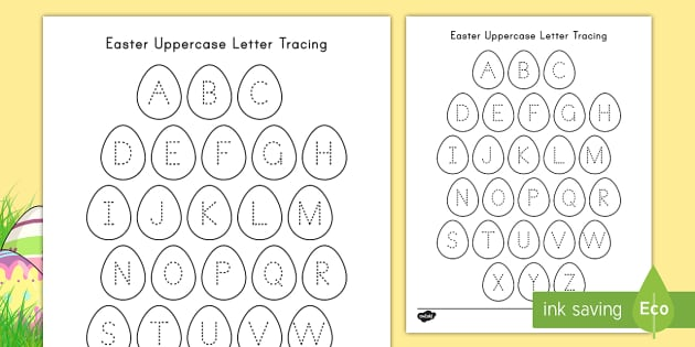 Easter Uppercase Alphabet Tracing (teacher Made)
