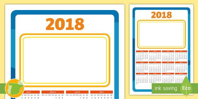 Calendario Din A4.2018 Christmas Gift Calendario Anual 2017 Calendario