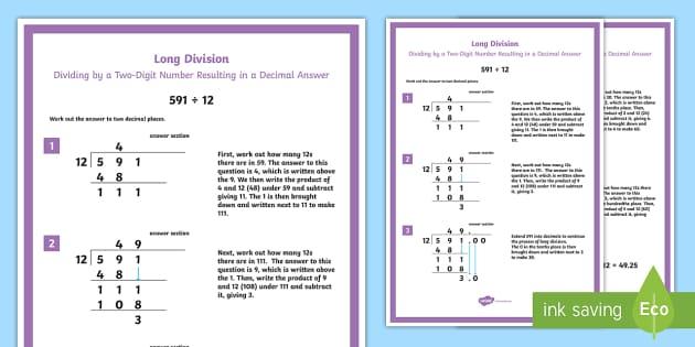 Long Division Method Ks2 Display Posters Bus stop method long division worksheet