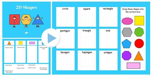 Properties Of 2d Shapes Sorting Activity Flipchart