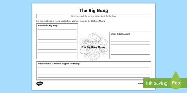 the big bang theory mind map worksheet activity sheet the. Black Bedroom Furniture Sets. Home Design Ideas