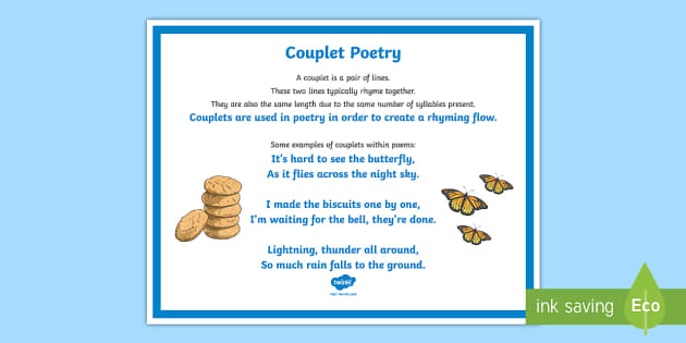 What Is A Couplet Answered Twinkl Teaching Wiki