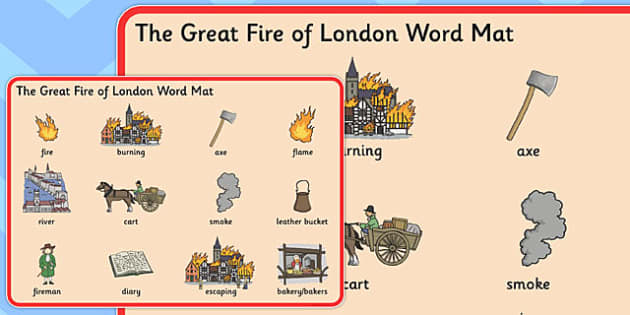 The Great Fire Of London Pre Teaching Word Mat Great