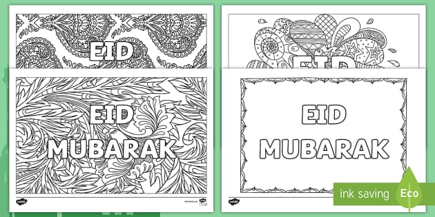 Eid Mindfulness Coloring Pages Teacher Made