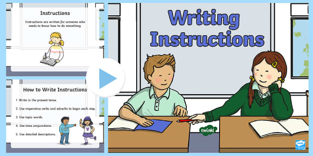 how to write instructions