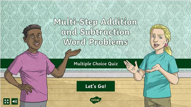 Multi Step Addition And Subtraction Word Problems Multiple