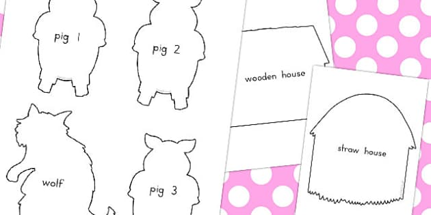 The three little pigs shadow puppets australia shadow for The three little pigs puppet templates