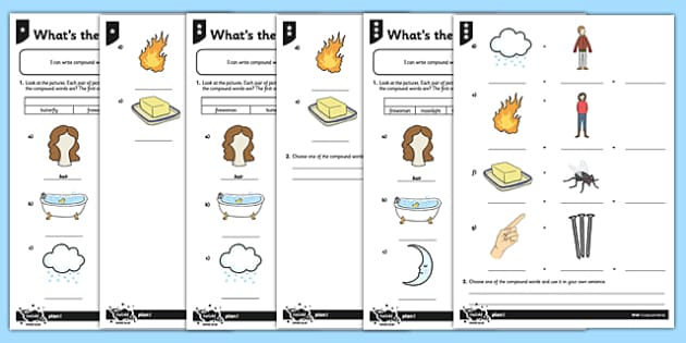 What 39 S The Compound Word Differentiated Worksheet Activity
