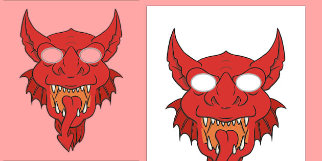 Welsh Dragon Mask Role Play Masks - Chinese New Year ...