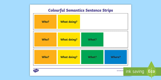 picture regarding Printable Sentence Strips named Vibrant Semantics Sentence Strips Worksheet
