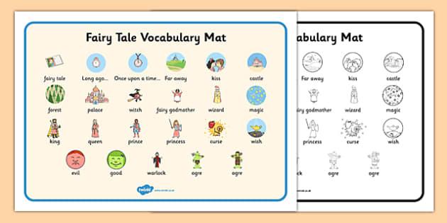 fairy tale vocabulary mat fairy tale fairy tale vocabulary. Black Bedroom Furniture Sets. Home Design Ideas