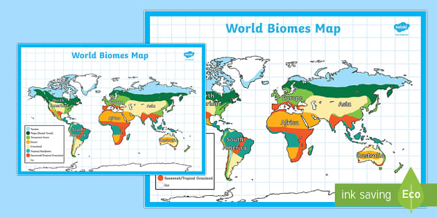 world biomes map geography maps visual aid countries map. Black Bedroom Furniture Sets. Home Design Ideas